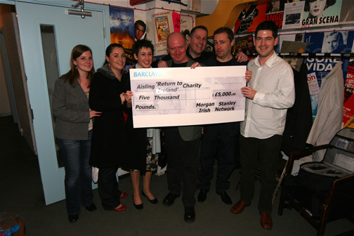 Aisling receives cheque