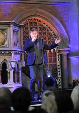 <h5>Host for the evening Ardal O'Hanlon who is patron of the Aisling Project.</h5>