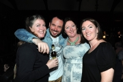 <h5>Rob Broderick of Abandoman, pictured after the show with his cousins Fiona, Gillian and Sarah O'Regan.</h5>