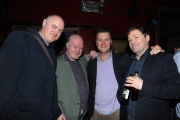 <h5>Dara O'Briain, Alex McDonnell, Ian Fitzgibbon and Ardal O'Hanlon relaxing after the show.</h5>